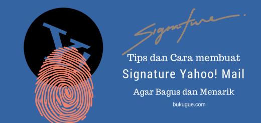 cara membuat signature yahoo keren dan bagus