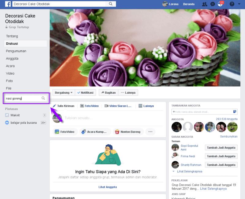fitur pencarian facebook