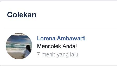 Cara mudah mencolek (poke) Teman di Facebook