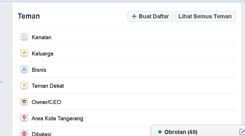 Cara Mudah  Membuat Daftar Teman di Facebook