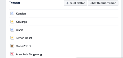 daftar teman facebook