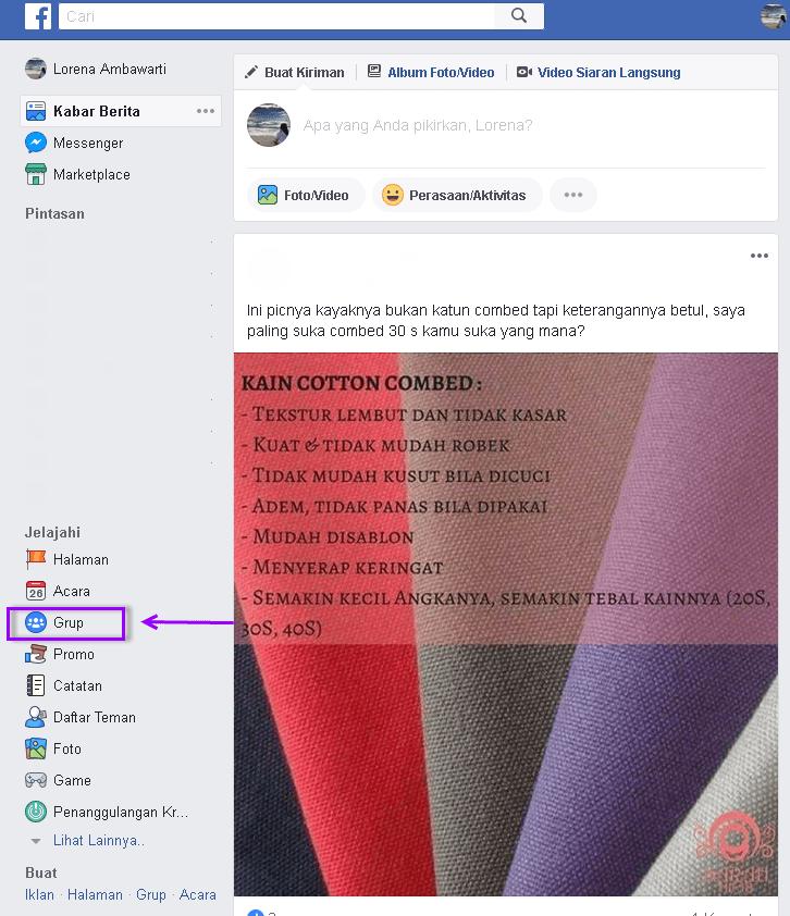 rekomendasi di grup facebook