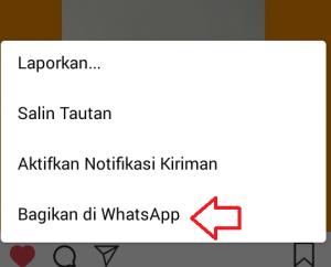 """pilih menu """"Bagikan di whatsapp"""""""