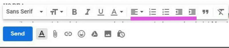 Format paragraf gmail di destop