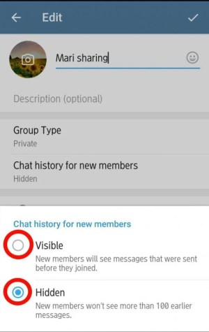 chat history for new members