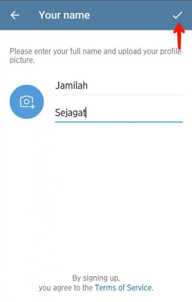 Contoh nama akun telegram