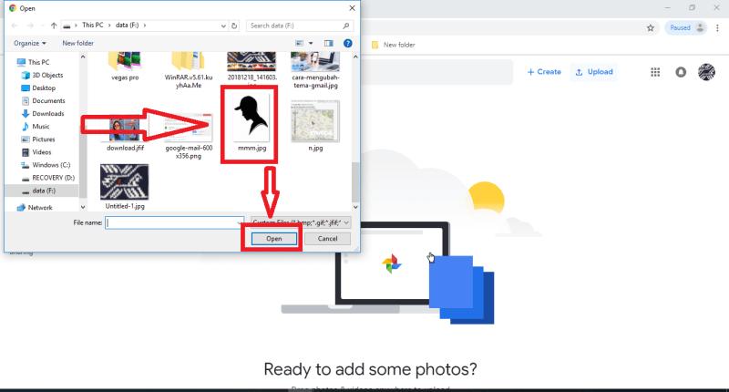Pilih gambar dan Save