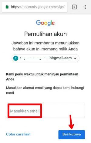 Masukkan alamat email yang bisa kamu akses