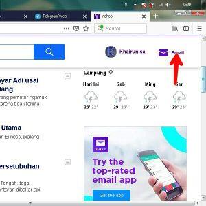 Laman beranda Yahoo Mail, kemudian tap email