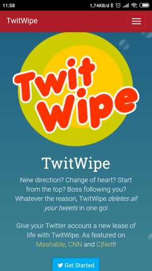 Laman utama twitwipe.com
