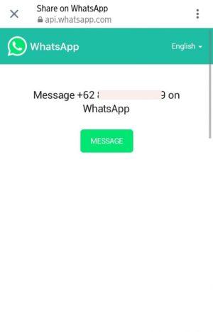 Gambar tautan no whatsapp langsung menuju chat pribadi