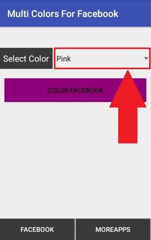 Memilih warna tema yang diinginkan