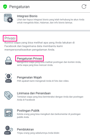 Mengatur privasi