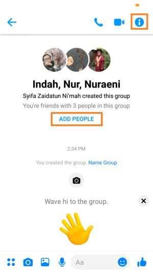 grup chat berhasil dibuat