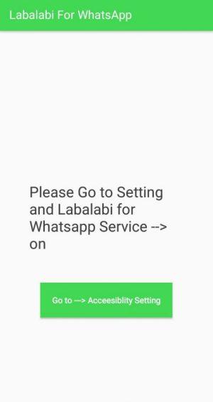 "klik tombol ""go to acceesibility setting"" untuk masuk ke pengaturan akses aplikasi"