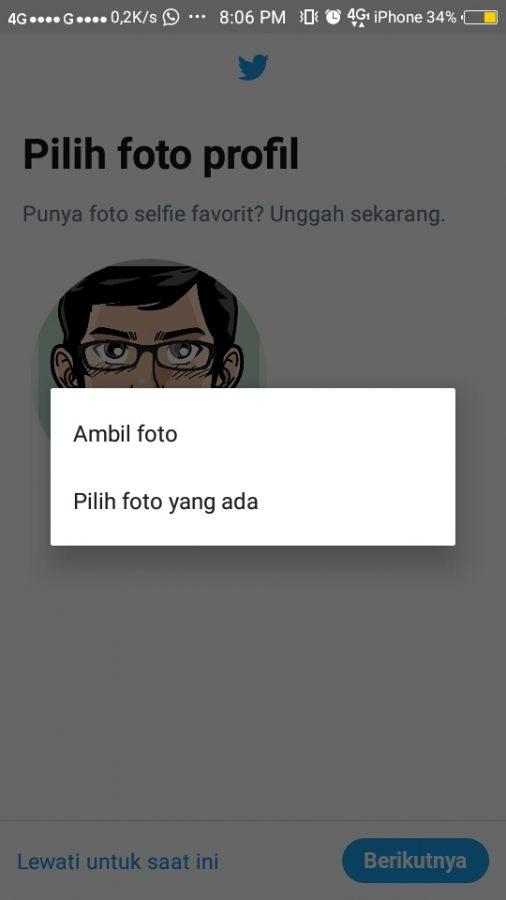 Tap pilih foto yang ada