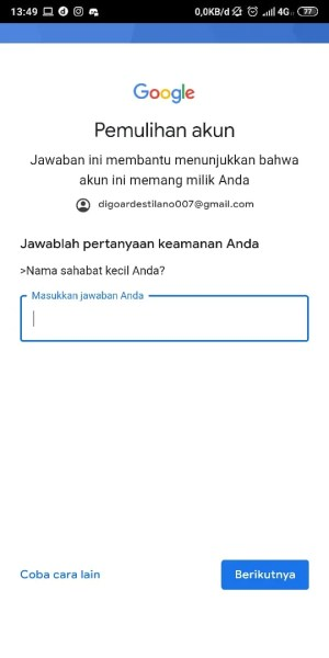 Jawab Pertanyaan dari Google