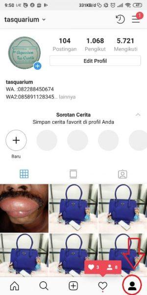 Masuk ke Halaman Profil