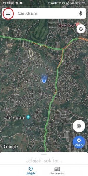 Pilih Menu Google Maps