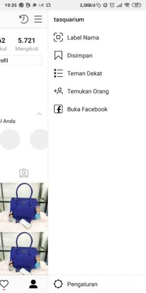 Menu Profil Instagram