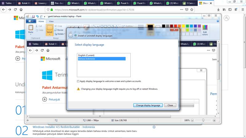 GAnti bahasa display Windows