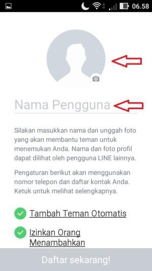 Ketikkan nama penggunamu pada kolom yang tersedia dan unggah foto profilmu dengan cara menekan ikon berbentuk bulat