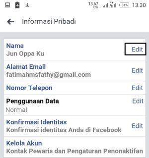 Informasi pribadi