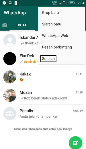 Gambar 34. Menu chat