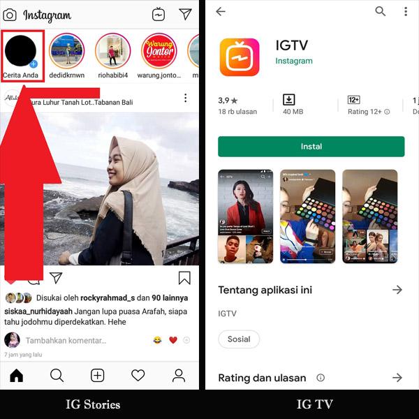 IGTV memiliki aplikasi tersendiri meskipun sudah terintegrasi dalam Instagram