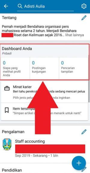 Pemantau kunjungan profil, postingan kunjungan dan pencarian