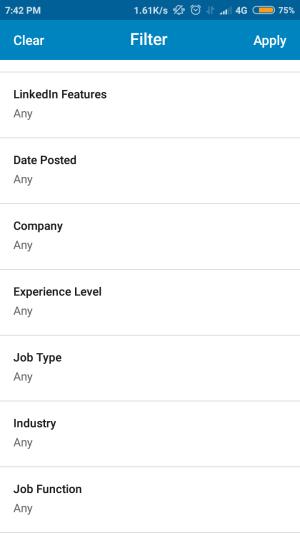 kamu dapat melakukan filter terhadap informasi lowongan pekerjaan yang tersedia