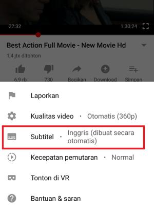 contoh subtitle sudah di aktifkan
