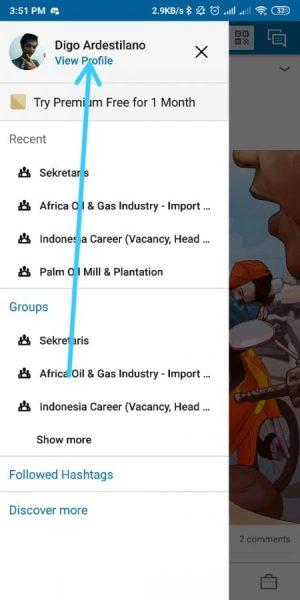 Tap View Profil