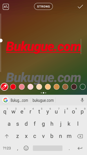 teks yang sama dengan warna berbeda