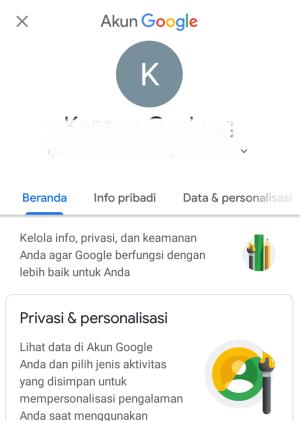 tampilan awal akun gmail