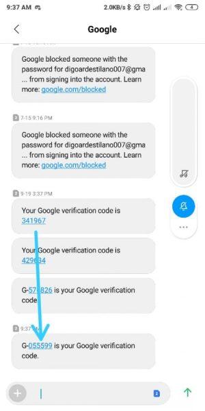 SMS Kode Verifikasi