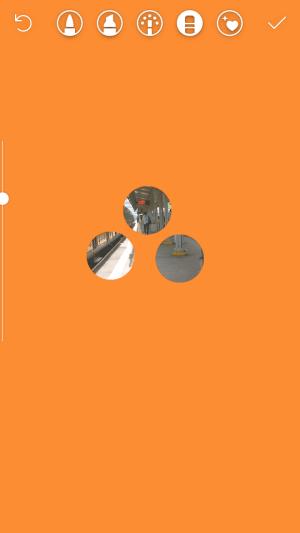 hapus warna dengan eraser dan foto dibelakang akan kembali terlihat