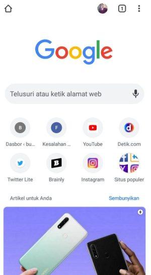 Antarmuka Chrome Browser