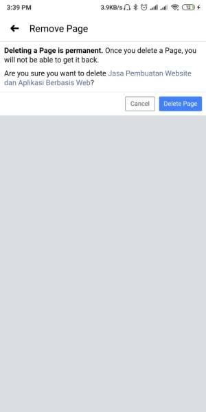 Pilih Delete Page