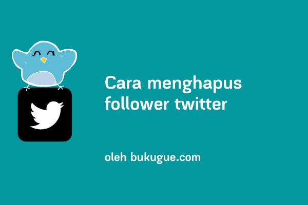 Cara menghapus banyak followers twitter sekaligus