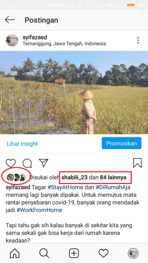 top likers di Instagram