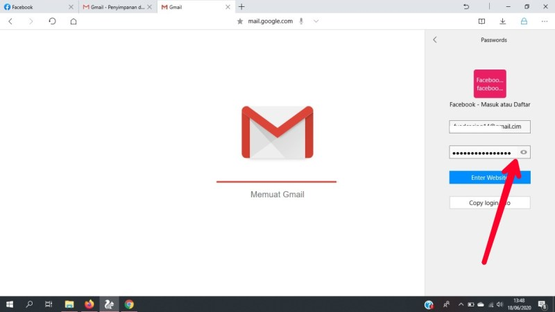 Cara melihat password di UC browser