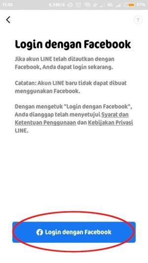 """tap """"login dengan facebook"""""""