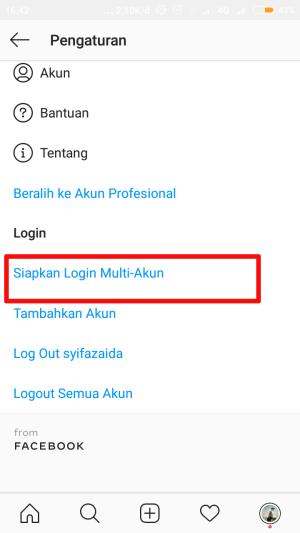 """pilih """"siapkan login multi-akun"""""""