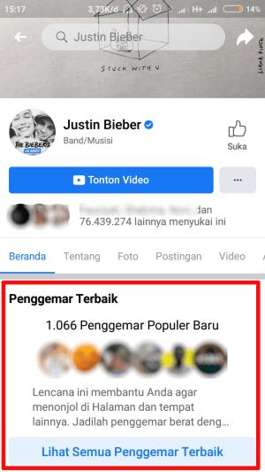 penggemar terbaik di halaman facebook