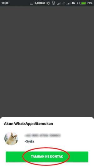 tambahkan kontak whatsapp