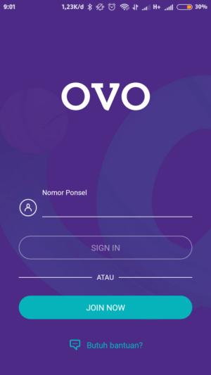 masukkan nomor HP yang terdaftar di OVO