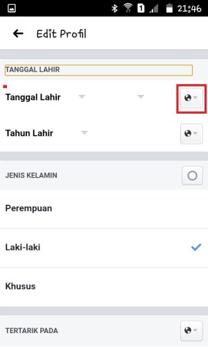 Halaman Edit Profil