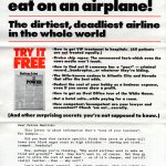 What never... ever to eat on an airplane