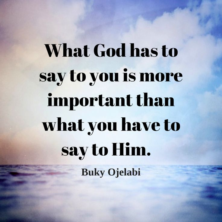 What God has to say to you is more important.
